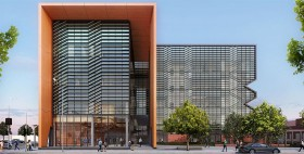 Drawing of front of new Shepparton Law Court